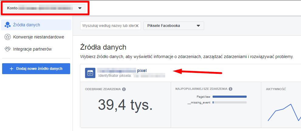 Instalacja piksela Facebooka szczegóły piksela